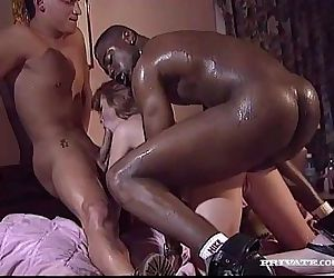 Interracial Threesome with..
