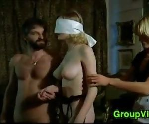 Blindfolded Blonde Pleasured..